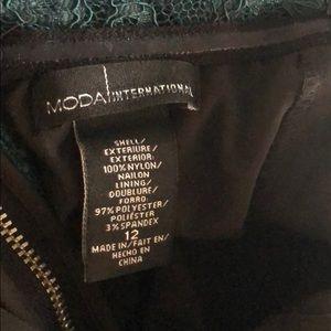Moda International Dresses - Moda International Green Lace Bodycon Dress 12